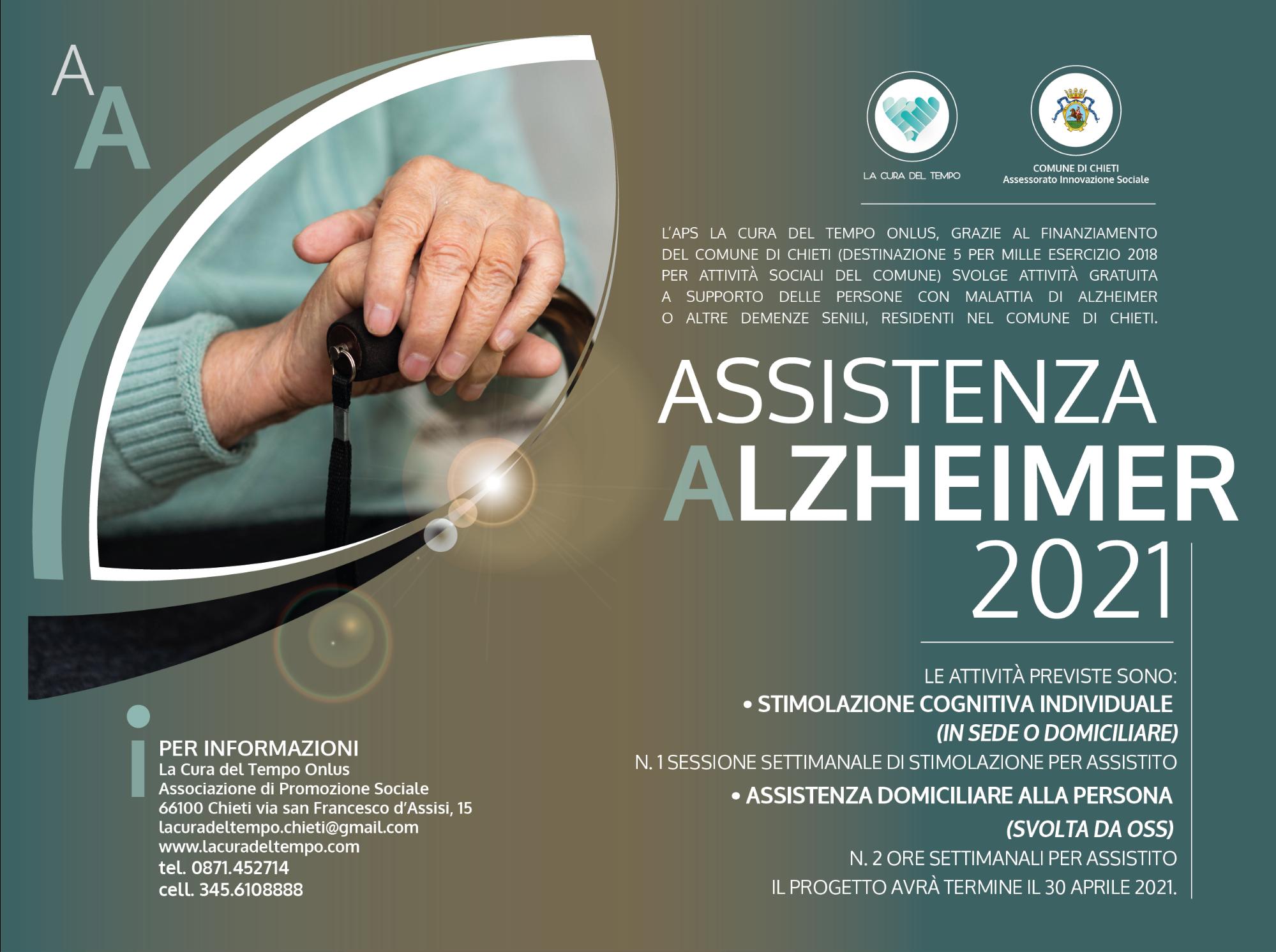 A.A. Assistenza Alzheimer - attività gratuita a supporto delle persone con malattia di Alzheimer o altre demenze senili